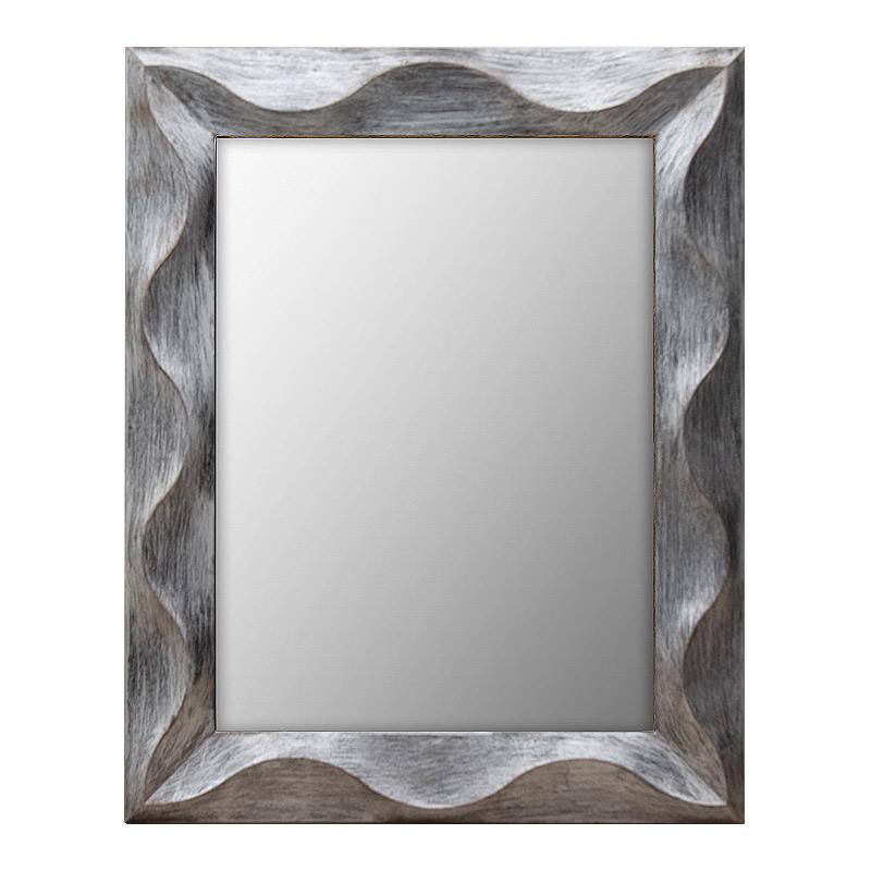 Καθρέφτης ορθογώνιος  πλαστικός σε χρώμα ασημί 75x60