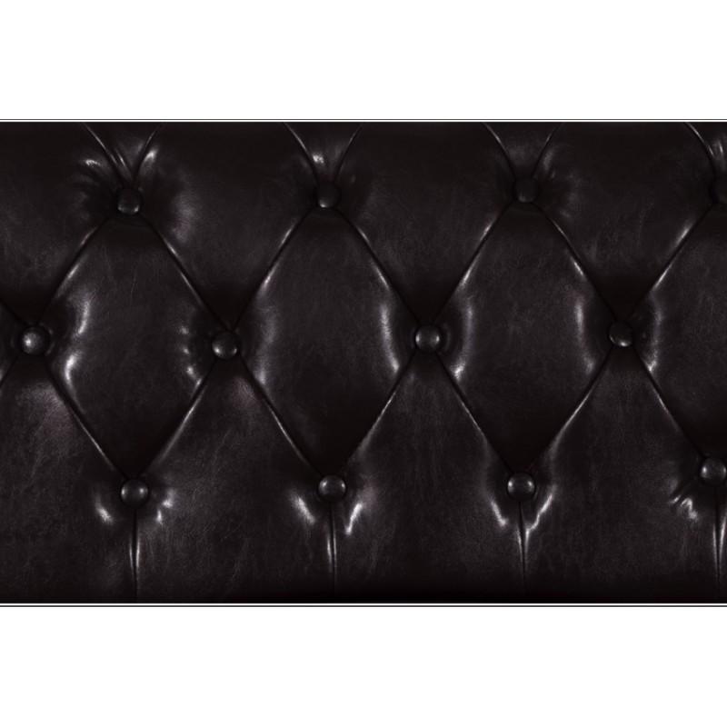 Καναπές διθέσιος τ.chesterfield σε σκούρο καφέ χρώμα 155x90x73