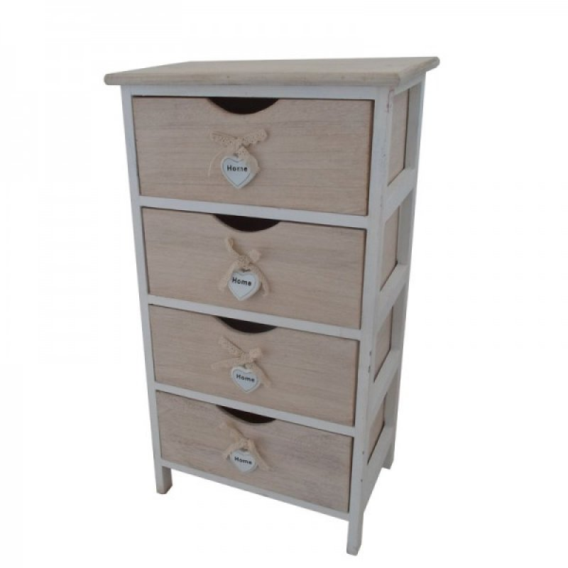 """Συρταριέρα """"HARMONY"""" με 4 συρτάρια σε χρώμα μπεζ 40x29x73"""