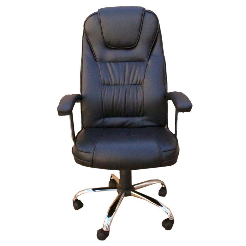 """Πολυθρόνα γραφείου διευθυντή """"MANAGER"""" από pu σε χρώμα μαύρο 65x70x111-121"""