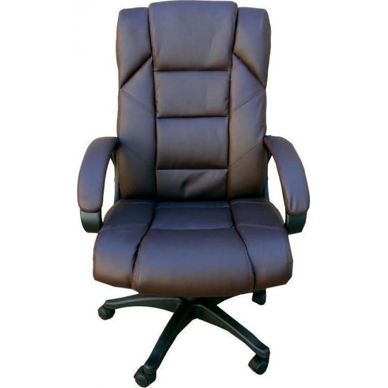"""Πολυθρόνα γραφείου διευθυντή """"Manager"""" από pu σε χρώμα καφέ 65x70x111-121"""