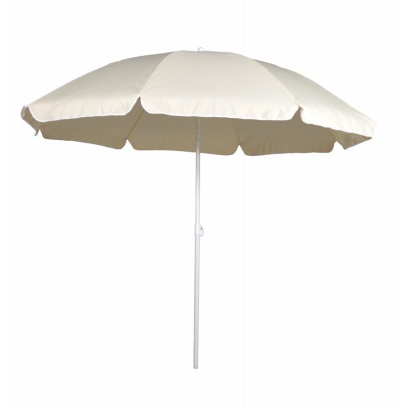 Ομπρέλα θαλάσσης στρόγγυλη 2 μέτρα μεταλλική σε εκρού χρώμα