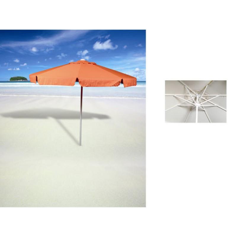 Ομπρέλα στρόγγυλη 2,35 μέτρα επαγγελματική και αδιάβροχο ύφασμα σε πορτοκαλί χρώμα