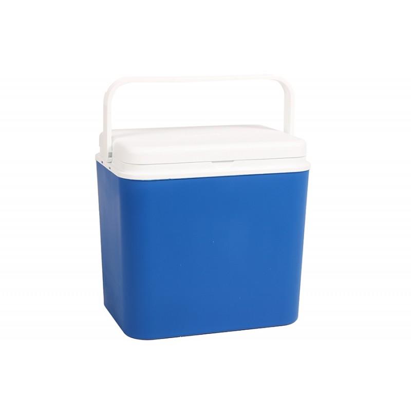 Φορητό ισοθερμικό ψυγείο 24lit. σε χρώμα μπλε-λευκό 39x24x39