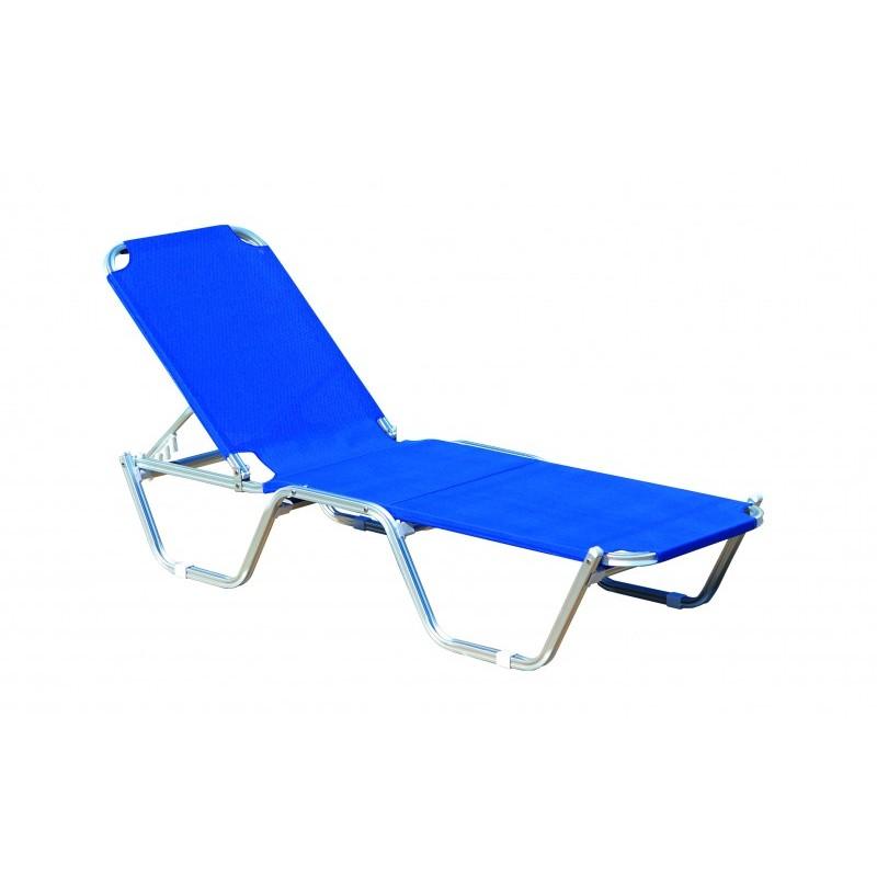 """Ξαπλώστρα θαλάσσης """"MARINE"""" σε μπλε χρώμα 193x62x30"""