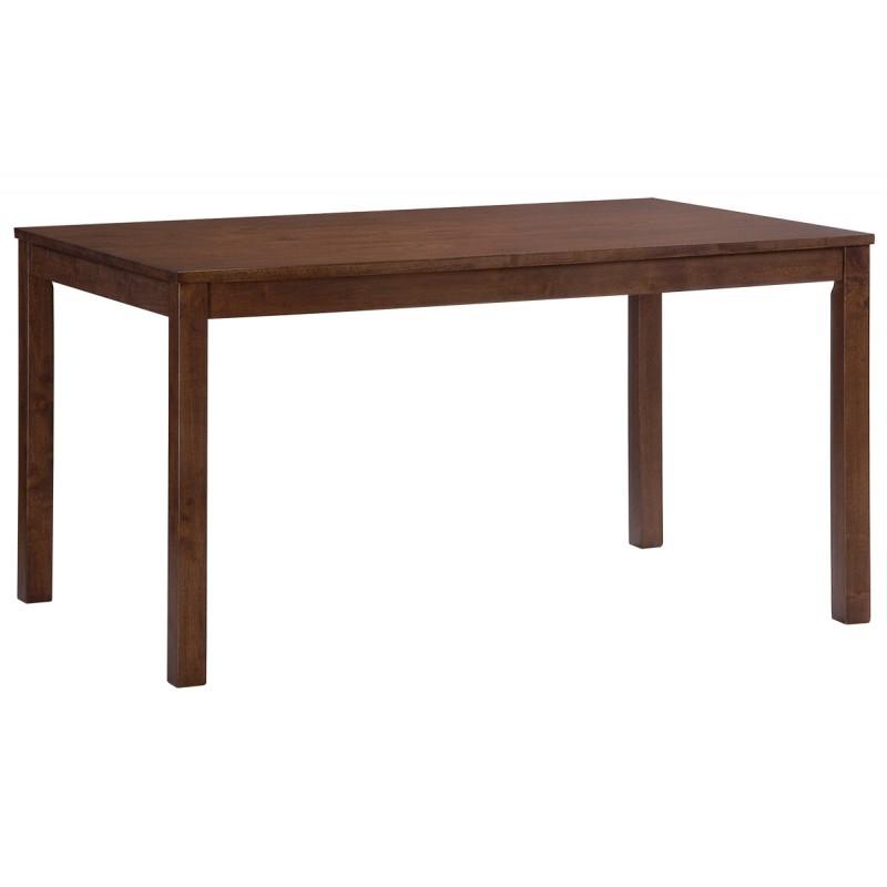 """Τραπέζι """"ALDO"""" από ξύλο μασίφ σε χρώμα σκούρο καρυδί 120x80"""