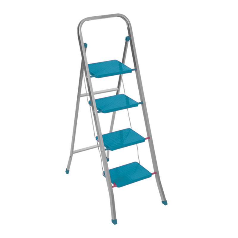 """Σκαλοκάθισμα """"TESLA 4O"""" μεταλλικό σε χρώμα μπλε 47x140"""