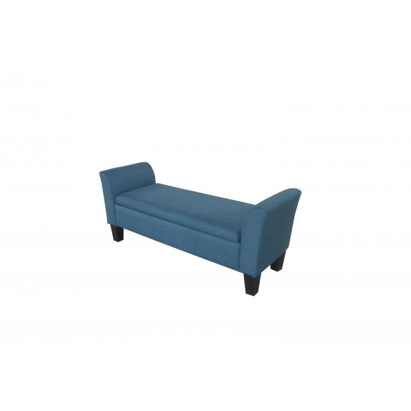 """Καναπεδάκι """"VALDANO"""" υφασμάτινο σε χρώμα μπλε 145x49x62"""