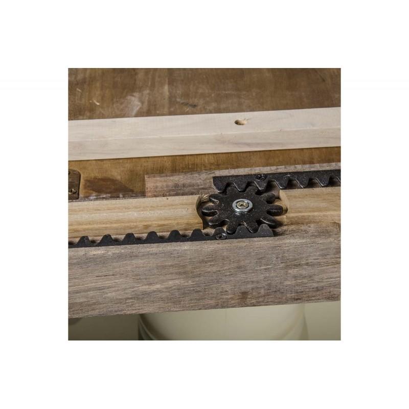 Σετ τραπεζαρίας KENTUCKY 7 τεμαχίων από μασίφ ξύλο σε χρώμα εκρού-καρυδί