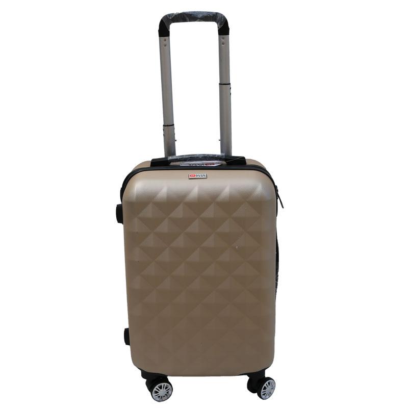 Βαλίτσα τρόλλεϋ με σκληρό εξωτερικό σκελετό και κλειδαριά ασφαλείας σε χρώμα χρυσό, 51x30x22