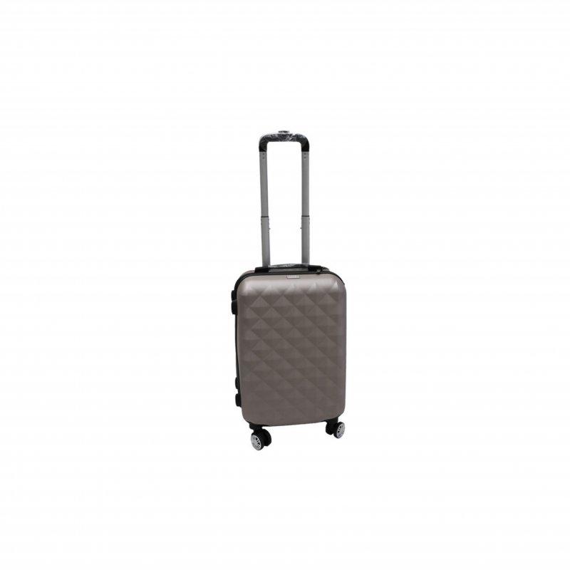 Βαλίτσα τρόλλεϋ με σκληρό εξωτερικό σκελετό σε χρώμα γκρι, 51x30x22