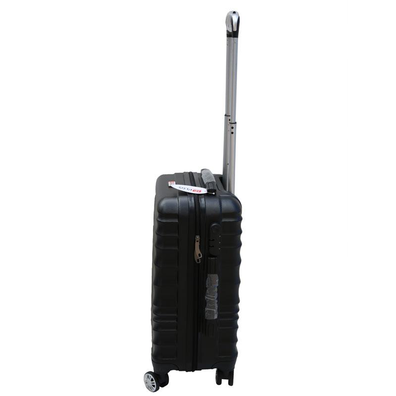 Βαλίτσα τρόλλεϋ με σκληρό εξωτερικό σκελετό σε χρώμα μαύρο, 51x30x22