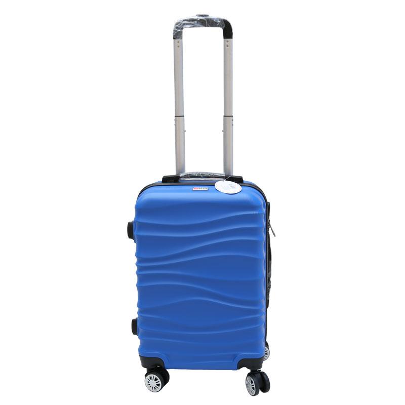 Βαλίτσα τρόλλεϋ με σκληρό εξωτερικό σκελετό σε χρώμα μπλε, 51x30x22