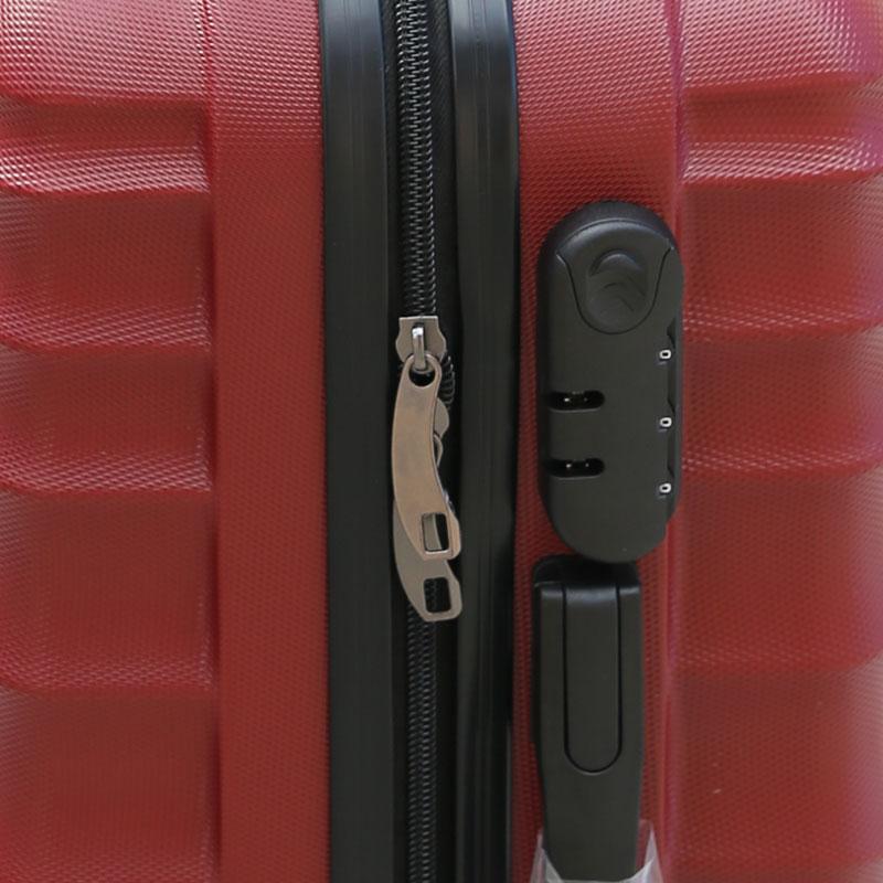Βαλίτσα τρόλλεϋ με σκληρό εξωτερικό σκελετό σε χρώμα μπορντώ, 51x30x22