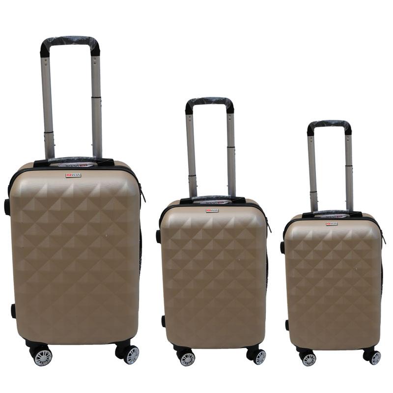 Σετ βαλίτσες 3τμχ τρόλλεϋ σε χρώμα χρυσό