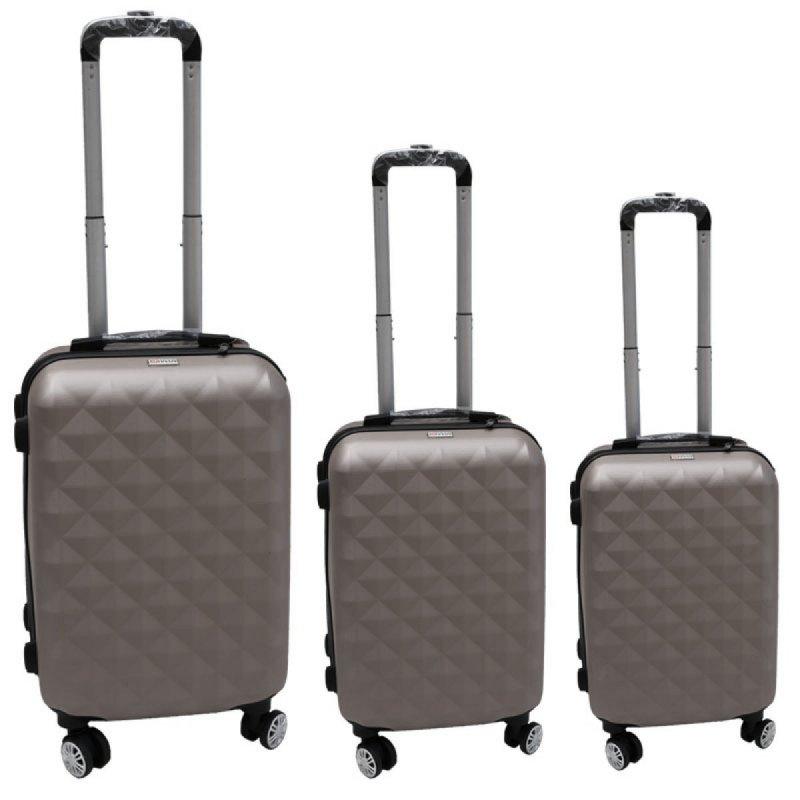 Σετ βαλίτσες 3τμχ τρόλλεϋ σε χρώμα γκρι
