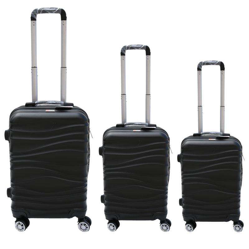 Σετ βαλίτσες 3τμχ τρόλλεϋ σε χρώμα μαύρο