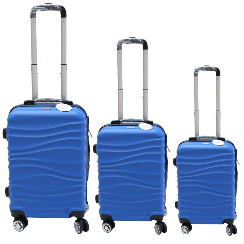 Σετ βαλίτσες 3τμχ τρόλλεϋ σε χρώμα μπλε