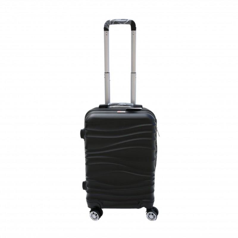 Βαλίτσα τρόλλεϋ με σκληρό εξωτερικό σκελετό και κλειδαριά ασφαλείας σε χρώμα μαύρο, 71x47x29
