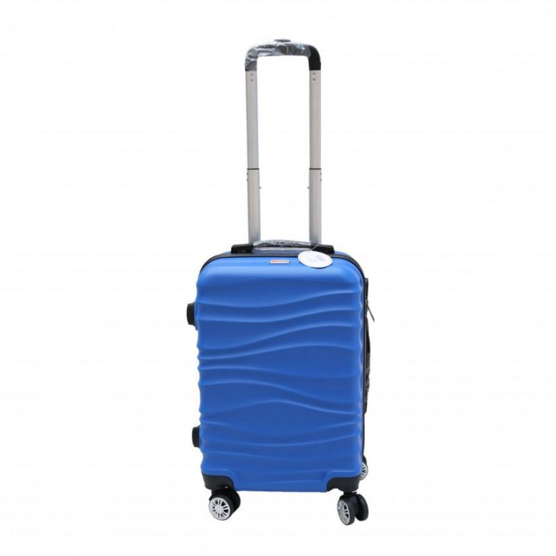 Βαλίτσα τρόλλεϋ με σκληρό εξωτερικό σκελετό και κλειδαριά ασφαλείας σε χρώμα μπλε, 71x47x29