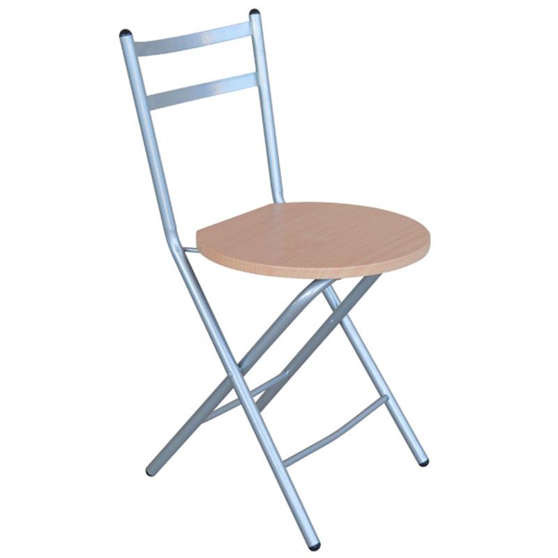 Καρέκλα μεταλλική πτυσσόμενη με επιφάνεια από mdf 39x51x78