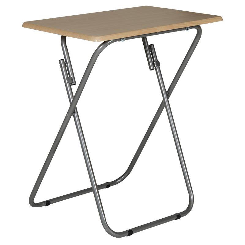 Τραπέζι πτυσσόμενο μεταλλικό με επιφάνεια από MDF 60x40x66