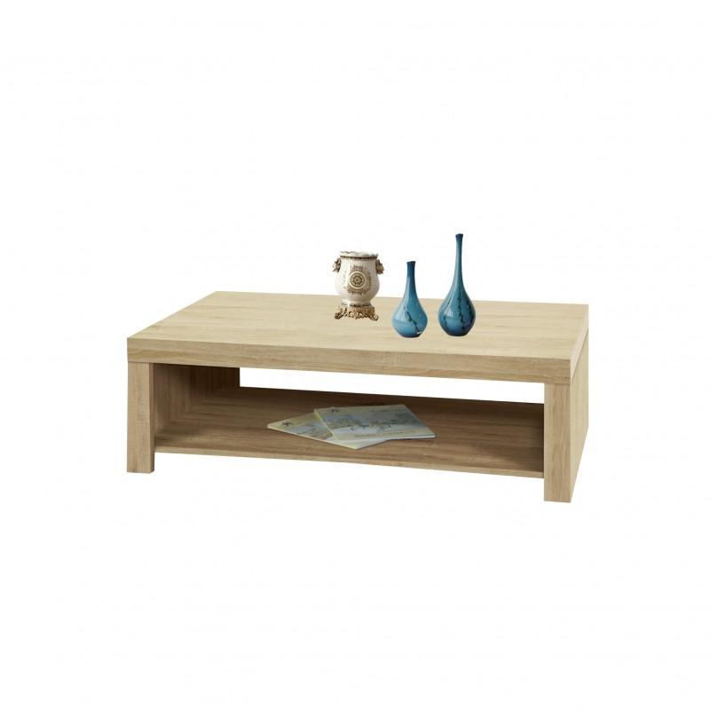 Τραπέζι σαλονιού με ράφι σε χρώμα δρυς 110x54x36