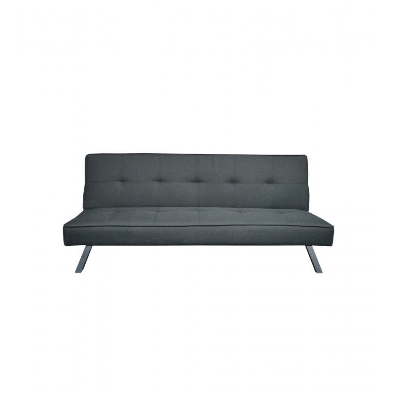 """Καναπές-κρεβάτι """"BALENO"""" τριθέσιος υφασμάτινος σε χρώμα γκρι 175x83x76"""