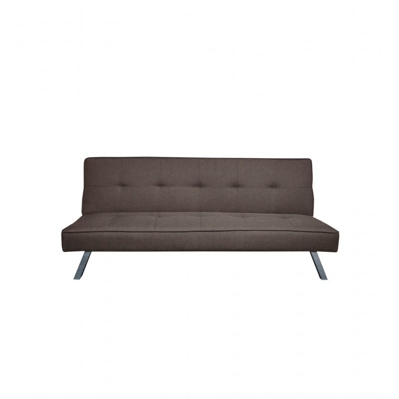 """Καναπές-κρεβάτι """"BALENO"""" τριθέσιος υφασμάτινος σε χρώμα καφέ 175x83x76"""