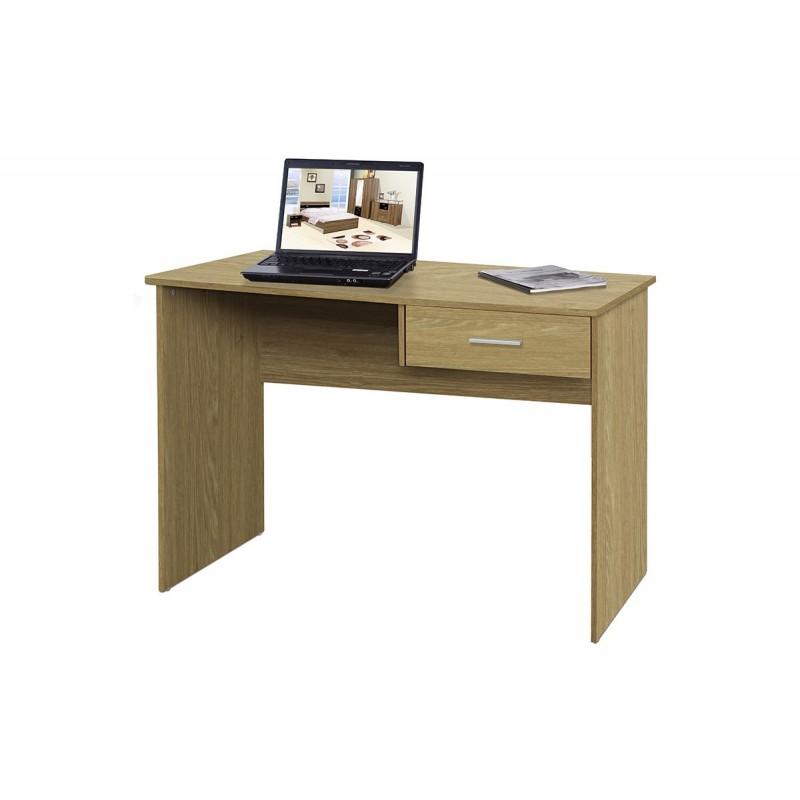 Γραφείο Η/Υ με ένα συρτάρι σε χρώμα γκρι-καφέ 100x48x76