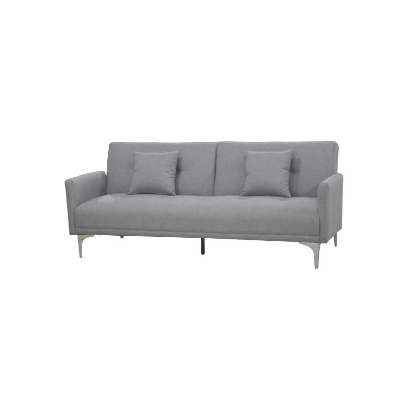 """Καναπές-κρεβάτι """"ALEXIS"""" τριθέσιος υφασμάτινος σε χρώμα γκρι 190x78x78"""