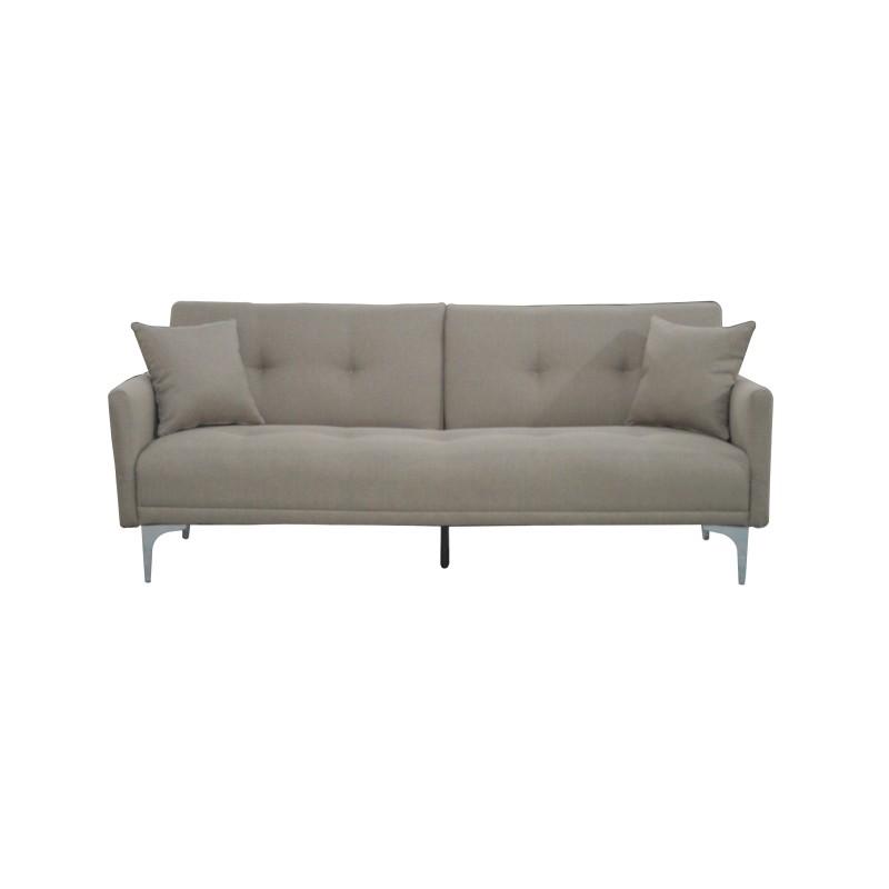 """Καναπές-κρεβάτι """"ALEXIS"""" τριθέσιος υφασμάτινος σε χρώμα μπεζ 190x78x78"""