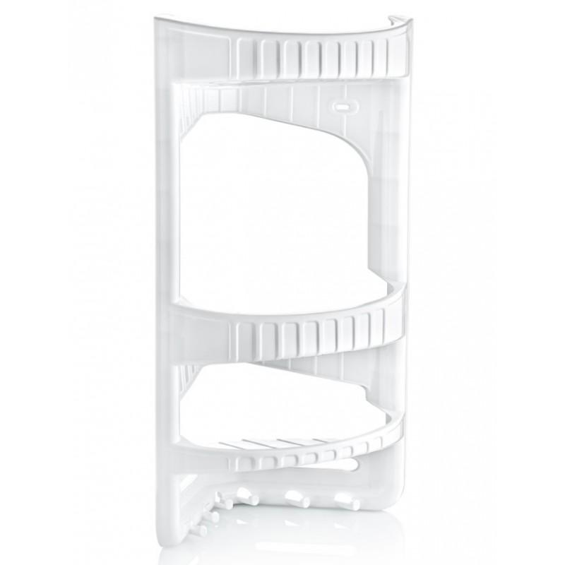 Ραφιέρα μπάνιου γωνιακή με 3 ράφια σε λευκό χρώμα 28x17,5x45