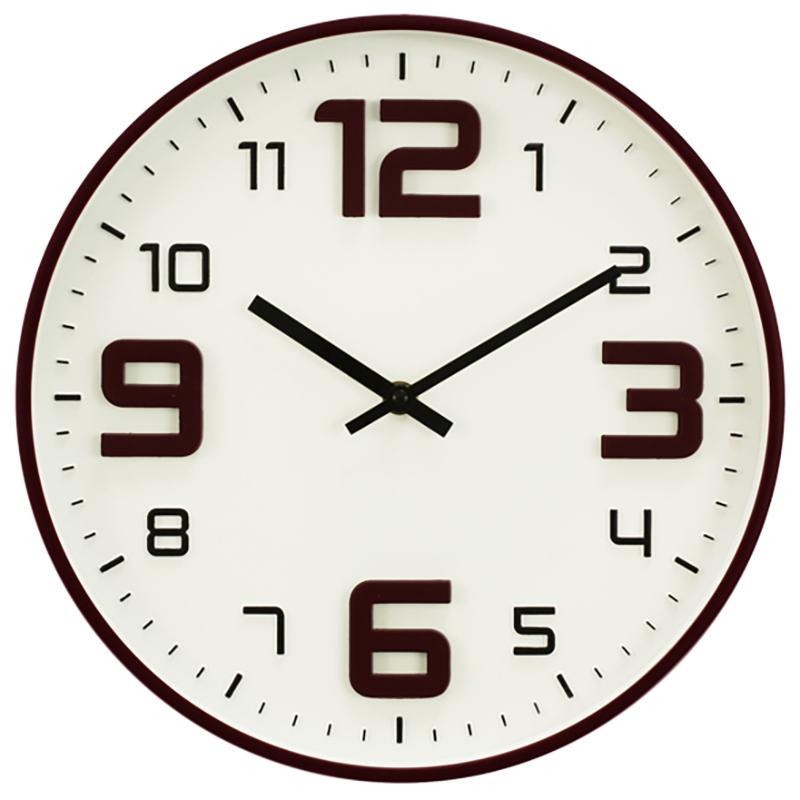 Ρολόι τοίχου πλαστικό σε χρώμα espresso Ø30εκ.