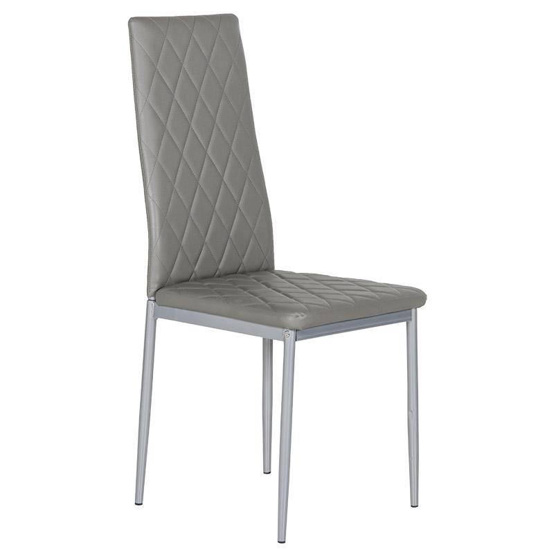 """Καρέκλα """"VIVA"""" από pvc σε γκρι χρώμα 52x43x96"""