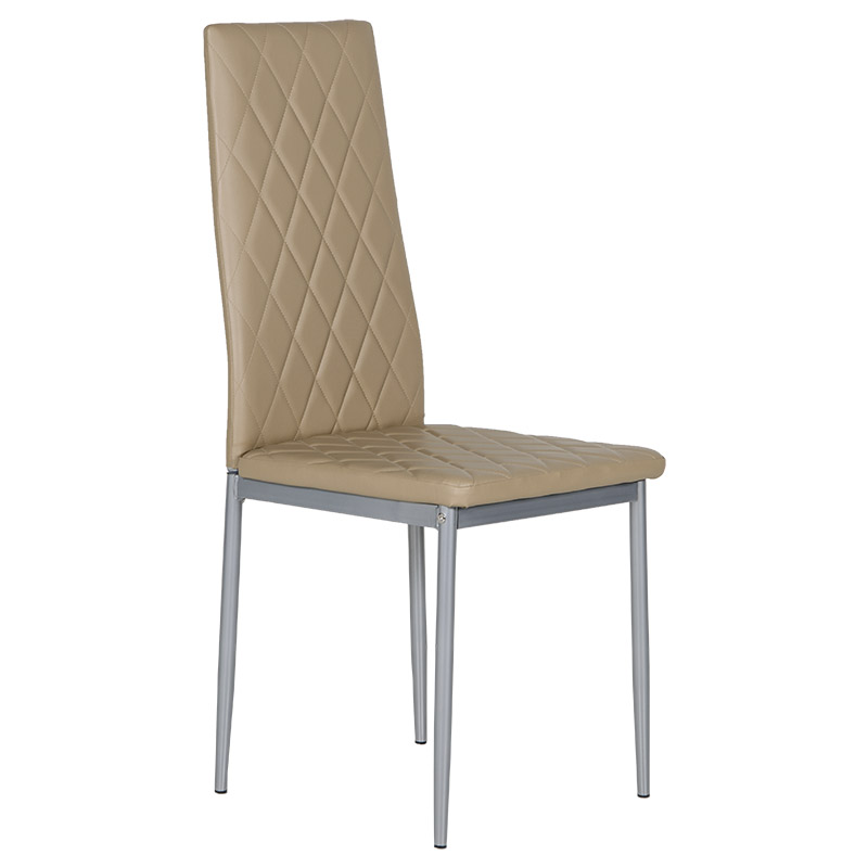 """Καρέκλα """"VIVA"""" από pvc σε cappuccino χρώμα 52x43x96"""