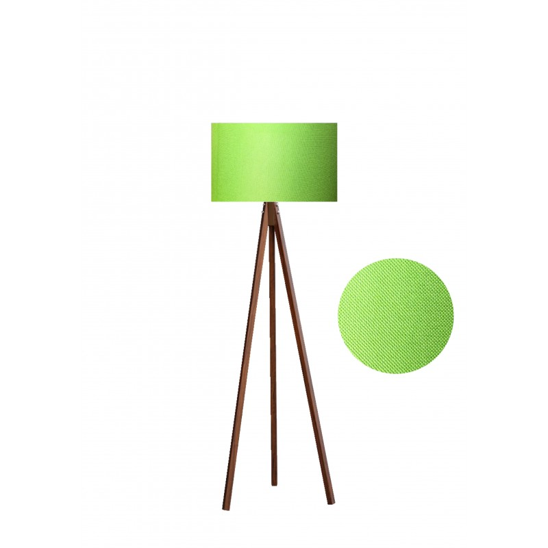 """Φωτιστικό δαπέδου """"EPOKA"""" καφέ ξύλινα πόδια-λαχανί καπέλο 40x40x145"""