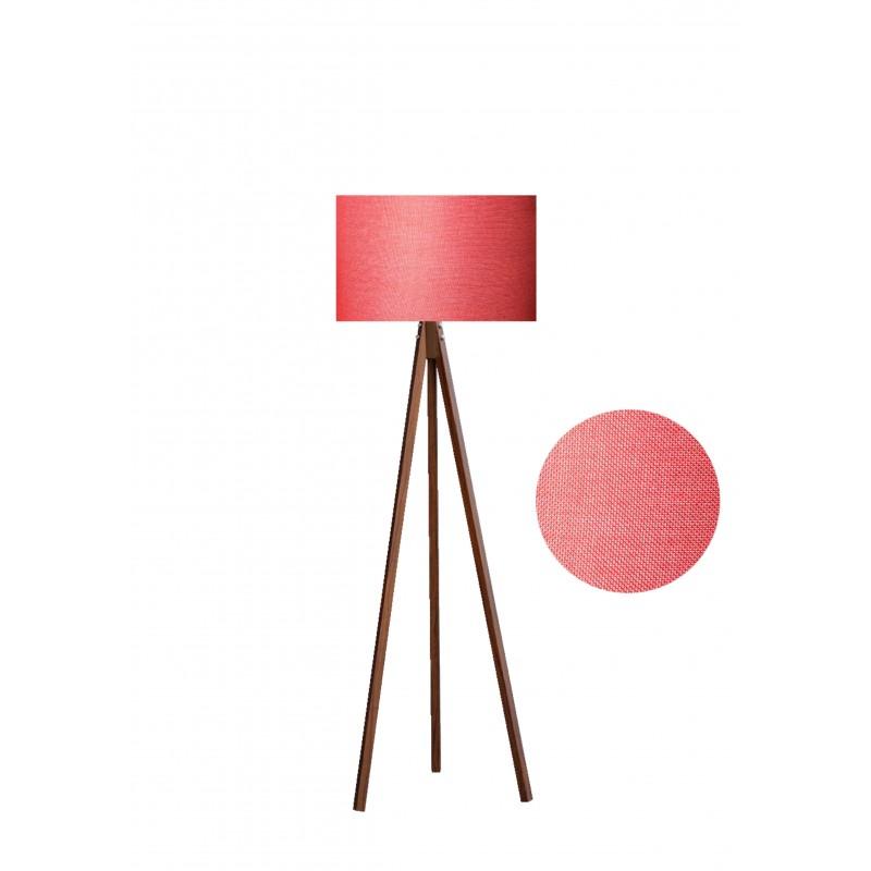 """Φωτιστικό δαπέδου """"EPOKA"""" καφέ ξύλινα πόδια-κόκκινο καπέλο 40x40x145"""
