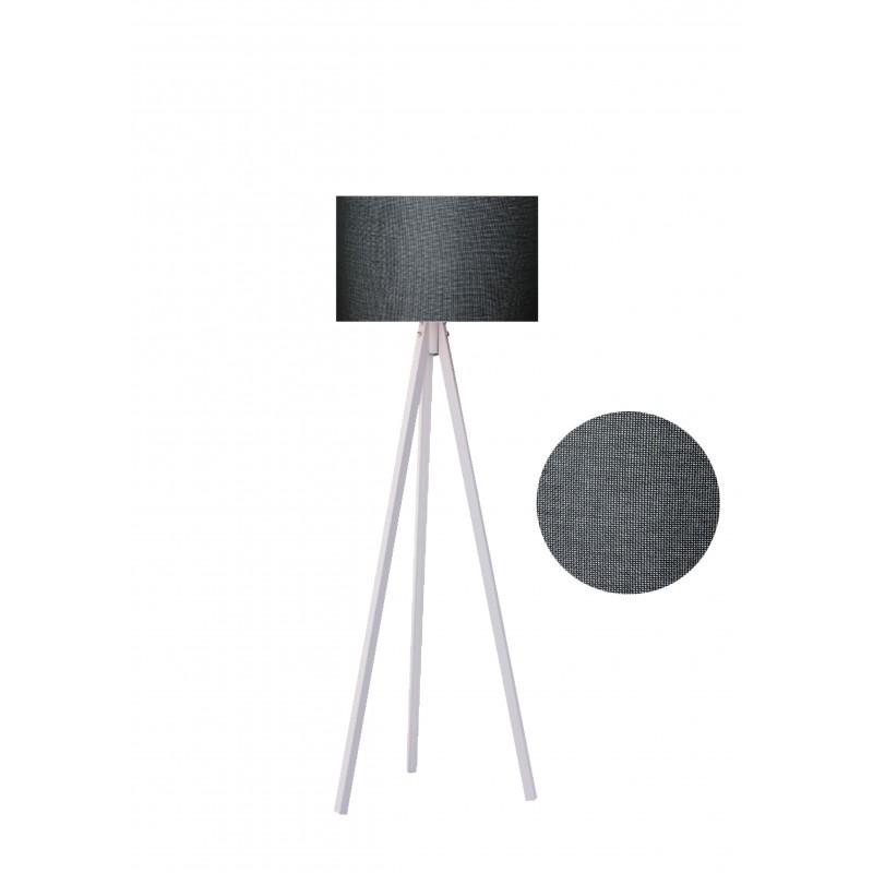 """Φωτιστικό δαπέδου """"EPOKA"""" λευκά ξύλινα πόδια-γκρι σκούρο καπέλο 40x40x145"""