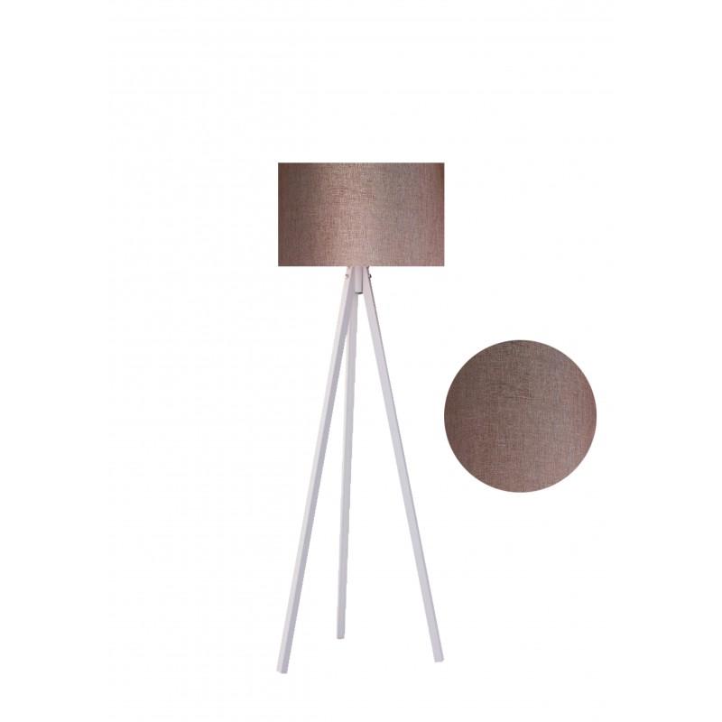 """Φωτιστικό δαπέδου """"EPOKA"""" λευκά ξύλινα πόδια-καφέ καπέλο 40x40x145"""