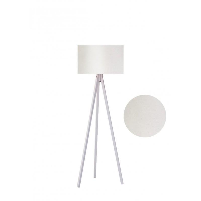 """Φωτιστικό δαπέδου """"EPOKA"""" λευκά ξύλινα πόδια-εκρού καπέλο 40x40x145"""