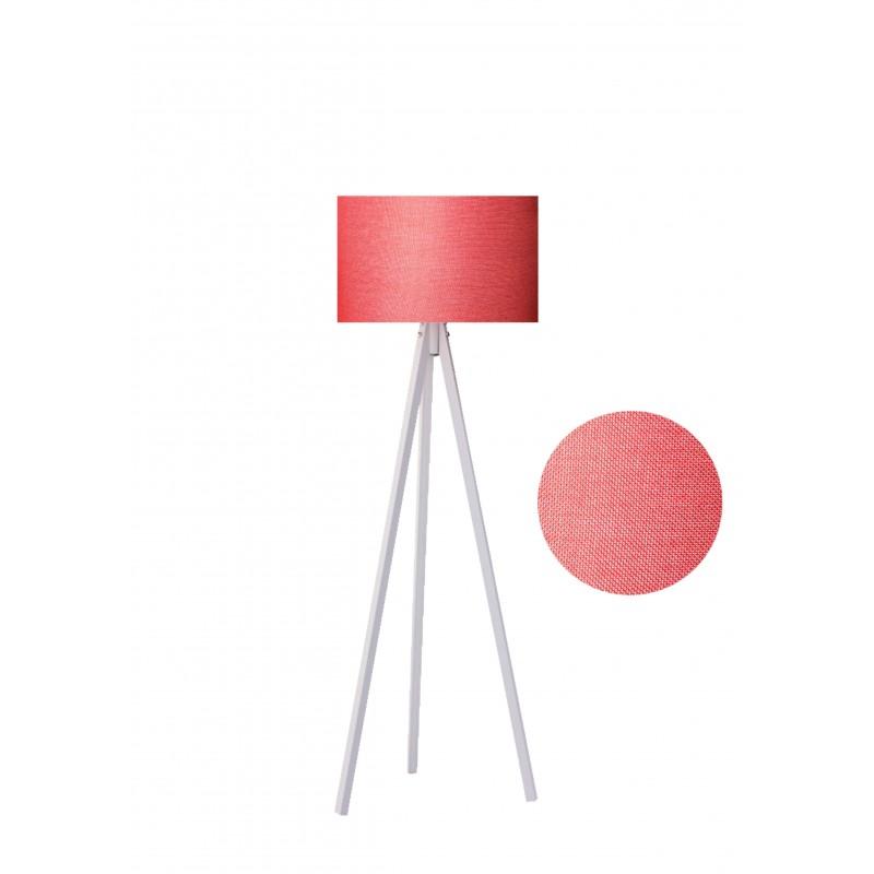 """Φωτιστικό δαπέδου """"EPOKA"""" λευκά ξύλινα πόδια-κόκκινο καπέλο 40x40x145"""