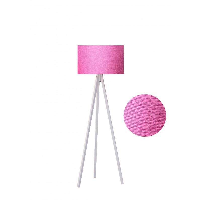 """Φωτιστικό δαπέδου """"EPOKA"""" λευκά ξύλινα πόδια-ροζ καπέλο 40x40x145"""