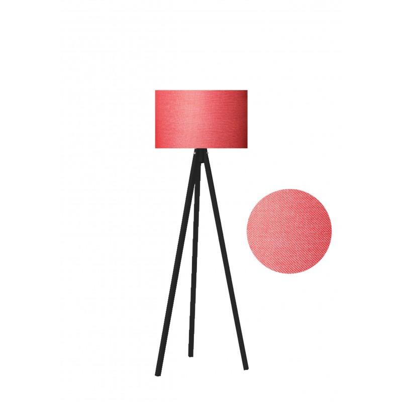 """Φωτιστικό δαπέδου """"EPOKA"""" μαύρα ξύλινα πόδια-κόκκινο καπέλο 40x40x145"""