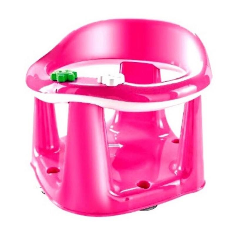 Παιδικό κάθισμα δαπέδου-μπάνιου σε ροζ χρώμα 33.5x31.6x25