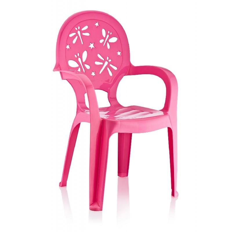 Παιδικό καρεκλάκι με μπράτσα σε ροζ χρώμα 36.5x36x58.6