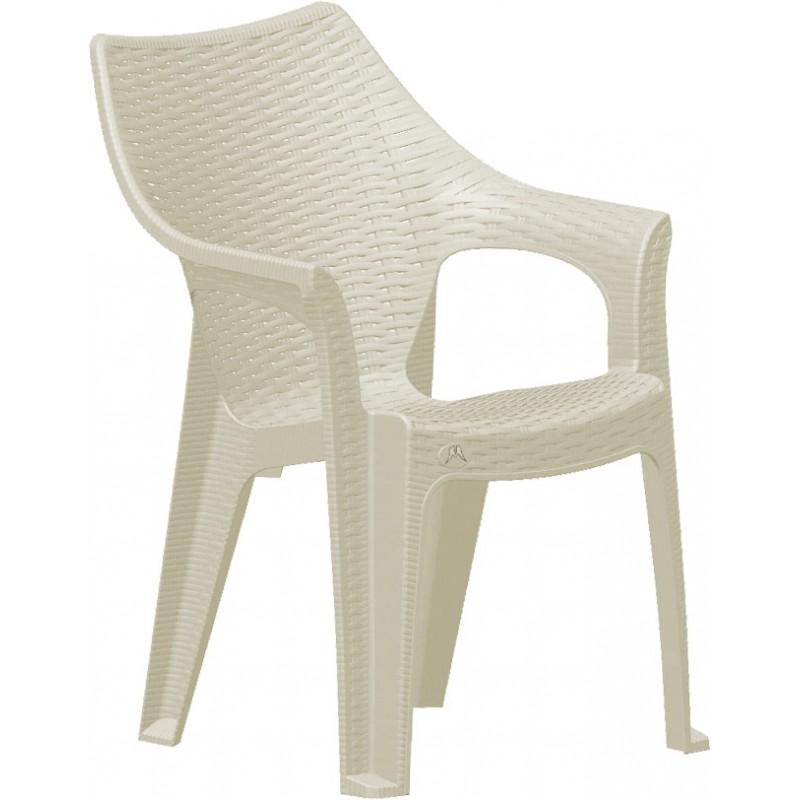 """Πολυθρόνα """"POLO"""" πλαστική σε χρώμα μπεζ 51x61x84"""