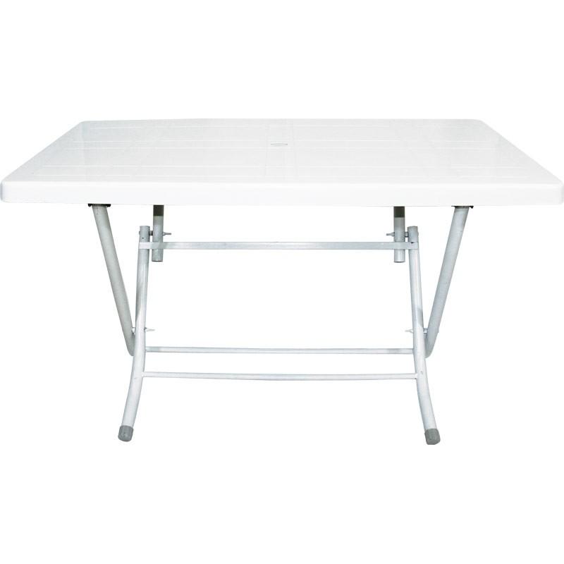 """Πτυσόμενο τραπέζι """"CASUAL"""" πλαστικό σε χρώμα λευκό 120x70"""