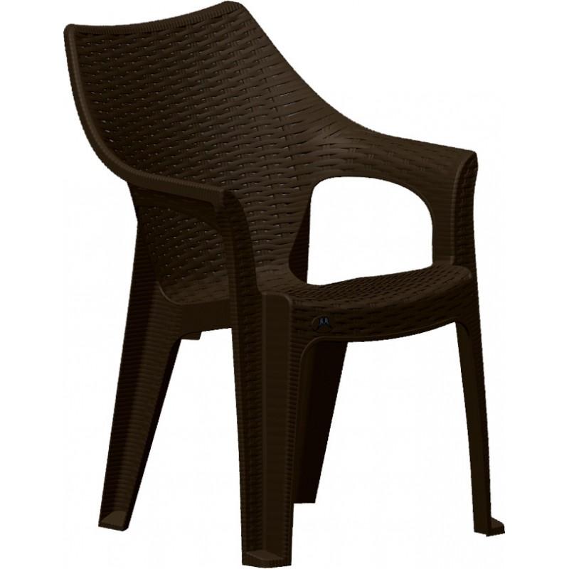 """Πολυθρόνα """"POLO"""" πλαστική σε χρώμα καφέ 51x61x84"""
