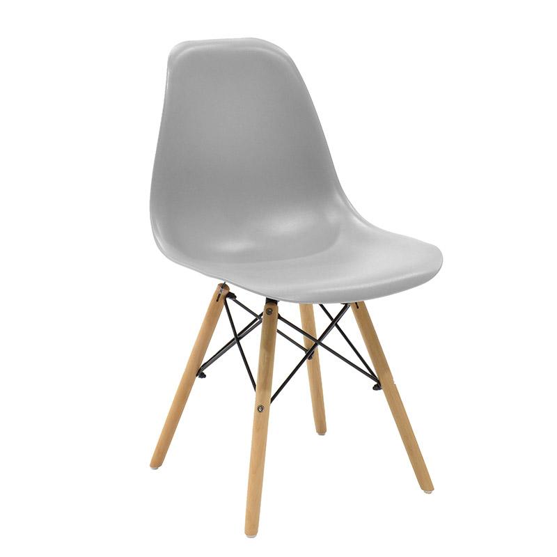 """Καρέκλα """"MALTA"""" από πολυπροπυλένιο σε χρώμα γκρι 52.5x46.50x82.5"""